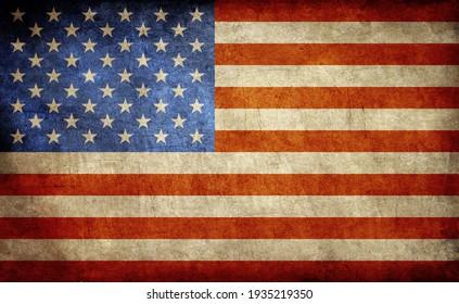 USA flag background grunge style