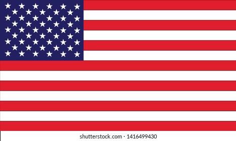 USA flag icon,American flag illustration