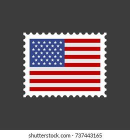 USA Flag Postage Stamp.