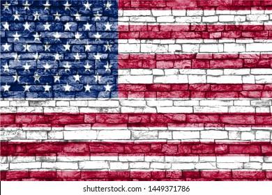 USA flag unites states background image design
