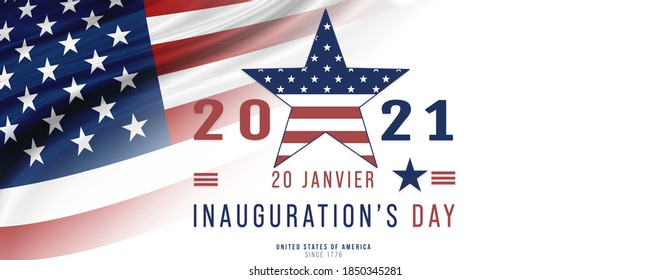 USA, Inauguration Day 20 January 2021- Joe Biden become the 46Th President of United States - Illustration banner