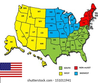Northeast United States Map Images, Stock Photos & Vectors ...