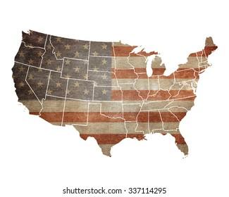 USA map. American flag