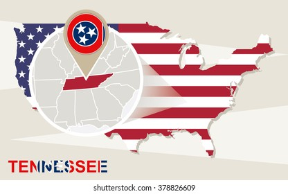 Large Detailed Map State Tennessee All Stock Vector (Royalty Free ...