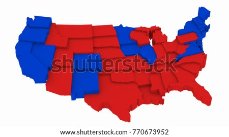 Royalty Free Stock Illustration of USA Map Presidential Elections ...