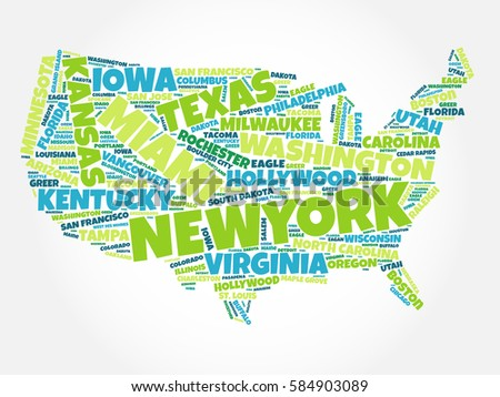 usa map word cloud most importantのイラスト素材 584903089 shutterstock