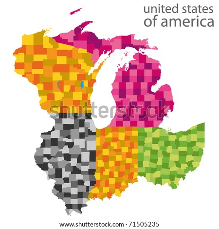 Royalty Free Stock Illustration Of Usa Mid East Map Stock