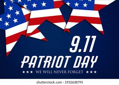 USA Patriot Day banner background