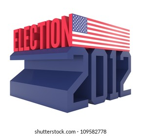 USA Presidential Election 2012 Icon - 3d illustration