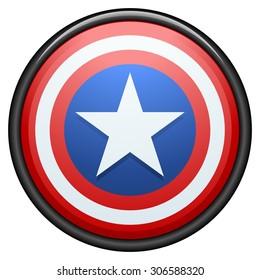 USA star button
