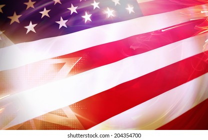 USA stars and stripes flag patriotic background.