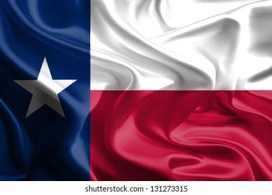 USA State Flags: Waving Fabric Flag of Texas