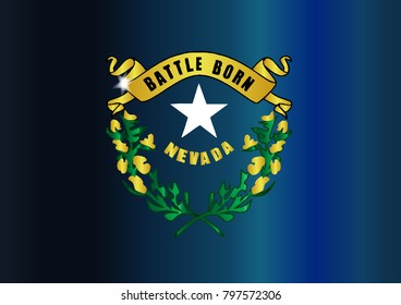 The USA state of Nevada flag icon