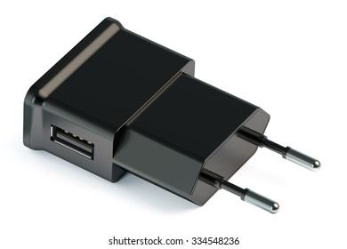 USB charger isolated on white background