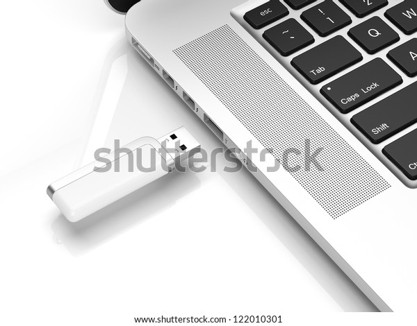 Usb flash isolated on a white background