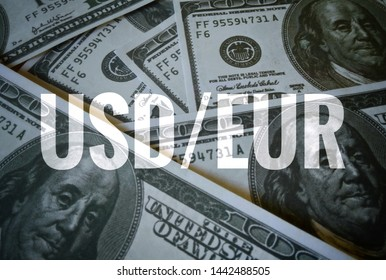 USD sign text over dollars banknote  background