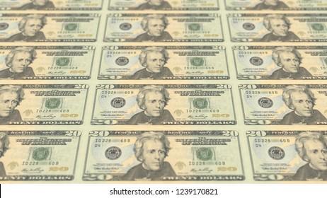 USD united states dollar money background 20 twenty