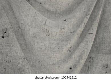 used fabric BLANK flag - close up