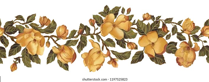 I used these flowers for border. these are in repeat from one side and in tiff format without background