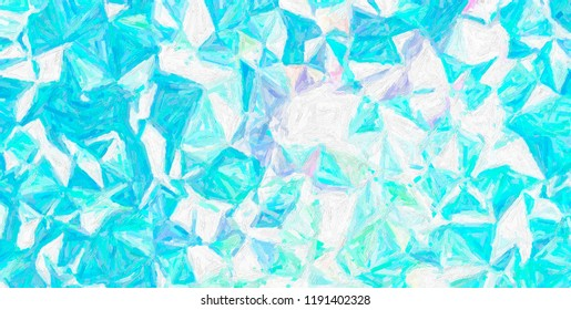 Useful abstract illustration of blue, green and white Colorful Impasto paint. Beautiful background for your project.