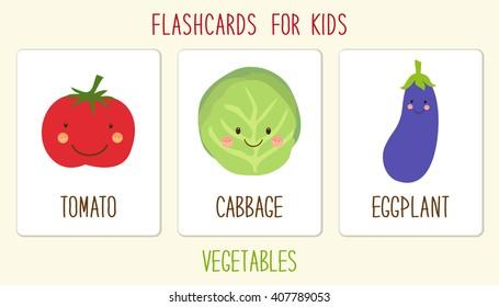 Imágenes, fotos de stock y vectores sobre Food Flashcards