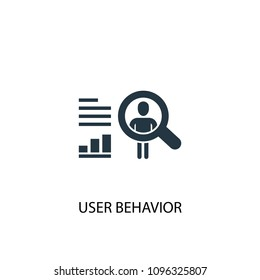 User behavior icon. Simple element illustration. User behavior symbol design from Big data, database collection. Can be used for web and mobile.