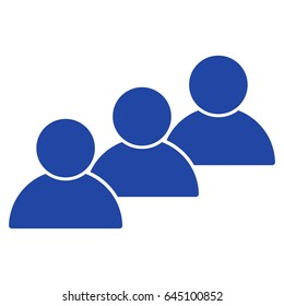 User Cohort flat raster pictograph. An isolated illustration on a white background.