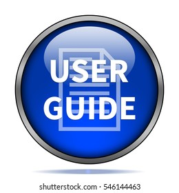 User guide icon. Internet button .3d illustration.