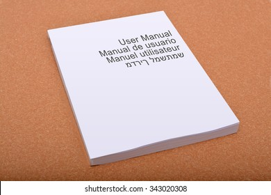 User Manual Book Cover with multiple languages.