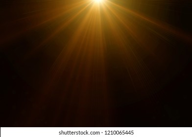 Using lens flare effects for overlay designs or screen blending mode to make high-quality images of warm sunlight isolated on a black background