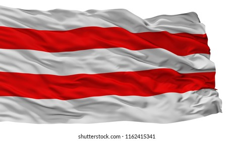 Usti Nad Labem City Flag, Country Czech Republic, Isolated On White Background