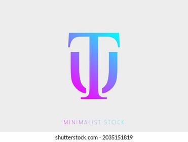 UT, TU, T, U Abstract Icon Vector Logo Alphabet Monogram Illustration Initial Template letter for Business, Real Estate Brand Identity, Company, Building. Professional Creative Minimalist Logo Design
