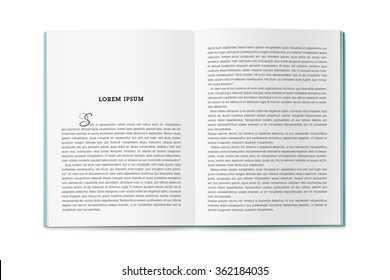 U-turn catalog, book or magazine. Layout page publications.