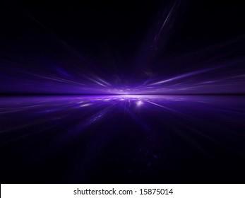 UV refraction - 3D fractal design