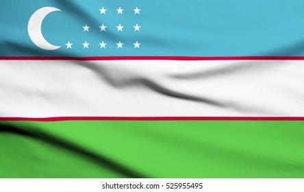 Uzbekistan Flag Waving