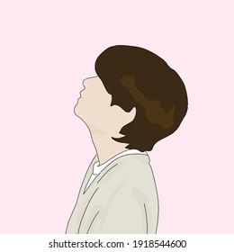 V BTS illustration dynamite photoshot