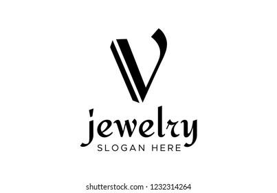 V Logo Design Template. letter V logo design