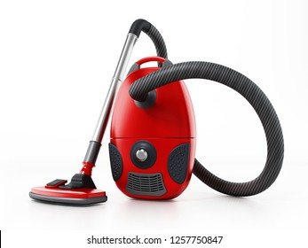 Vacuum cleaner isolated on white background. 3D illustration.