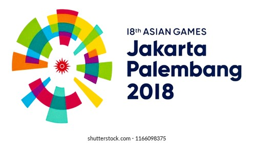 Valencia, Spain - August 15, 2018: Event scheduled Asian Games 2018 Jakarta Palembang.