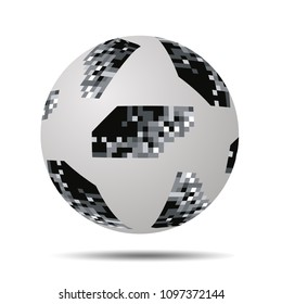 Valencia, Spain - May 20 , 2018: Adidas Telstar 18 World Cup Top Glider Soccer Ball. World Cup 2018 Football vector.