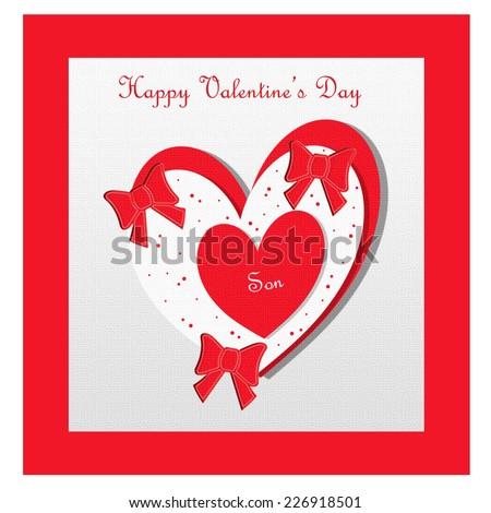 Valentine Heart Son Stock Illustration 226918501 Shutterstock
