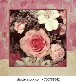 Valentine Rose in a Pink Frame