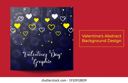 Valentine's Abstract Background Design Template