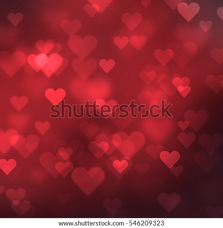 Valentines Day Background Bokeh Lights Stock Illustration 546209323