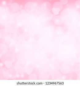 Valentine's day background with hearts love background