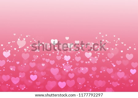 Valentines Day Background Pink Hearts White Stock Illustration