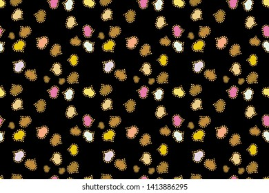 Valentines day background. Subtle raster pattern with tiny yellow, beige and black hearts on backdrop. Love romantic theme. Modern design for decor. Simple minimalist geometric seamless texture.