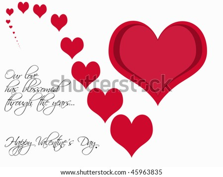 Valentines Day Card Design Concept Love Stock Illustration 45963835