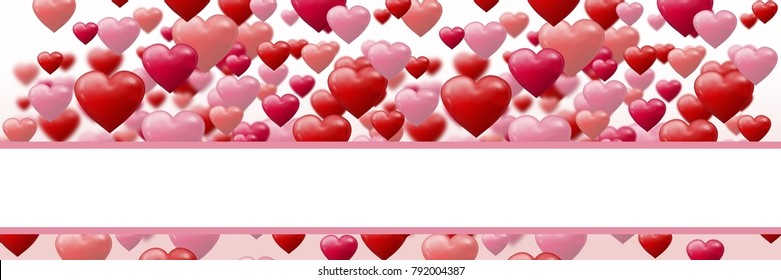 Valentines day design with hearts - Shutterstock ID 792004387