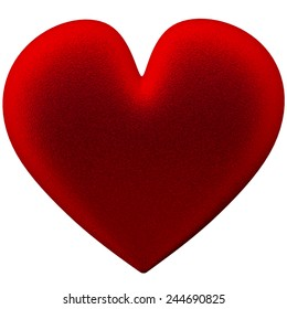 valentine's Day heart pillow silk velvet sponge
